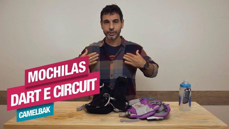 Veja os detalhes das Mochilas Dart e Circuit, da CamelBak