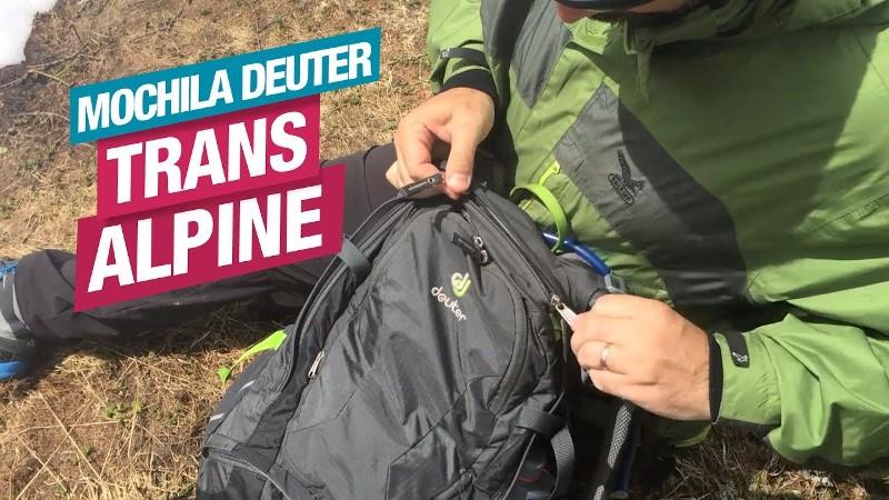 Veja todos os detalhes da Mochila Trans Alpine, da Deuter
