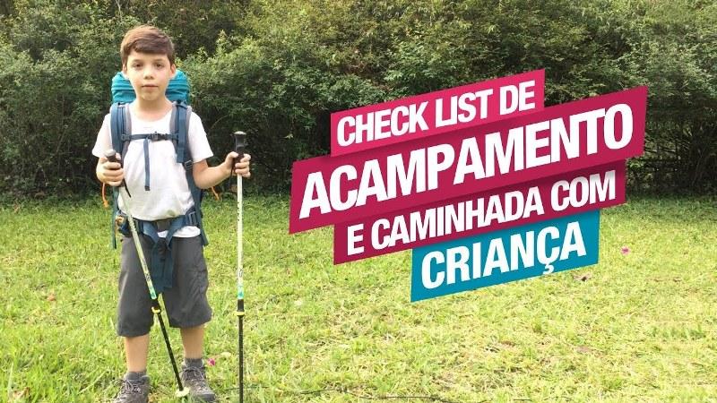 Check List de Acampamento e Caminhada com Crianças