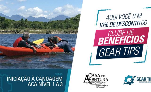 Casa de Aventura – Curso Iniciação a Canoagem ACA Nível 1 a 3 – Porto Belo – SC
