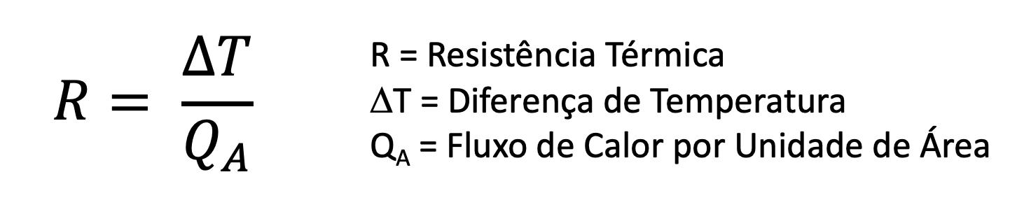 Cálculo da Resistência Térmica (Valor R)