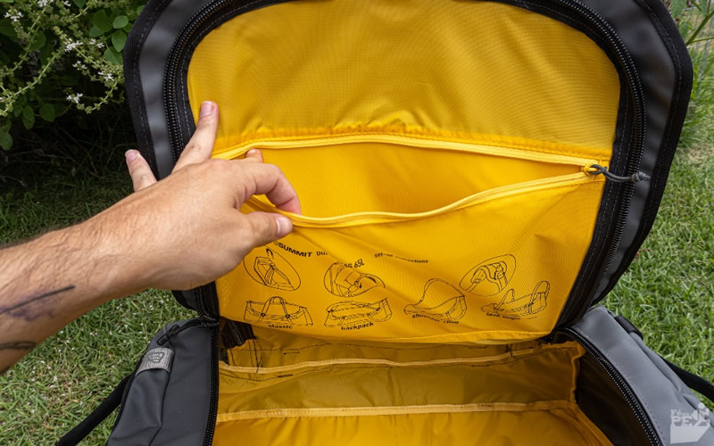 Duffle Bag 65L Sea to Summit - Interior amarelo