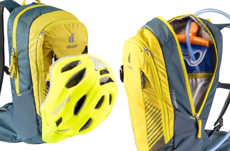 Deuter Compact 8 JR - suporte para capacete e bolso para o reservatório de água