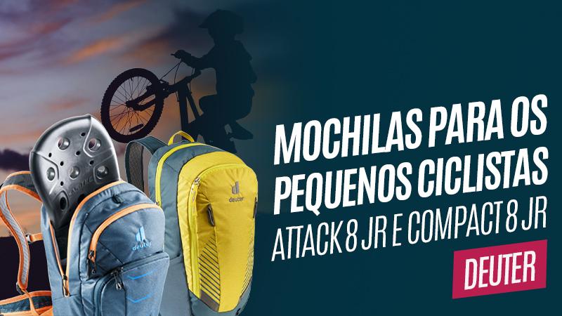 Mochilas infantis Attack 8 JR e Compact 8 JR