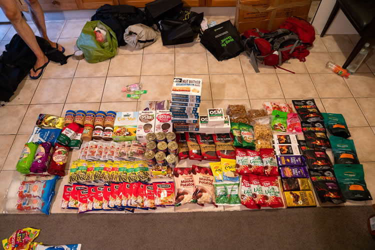 Alimentação para trekking