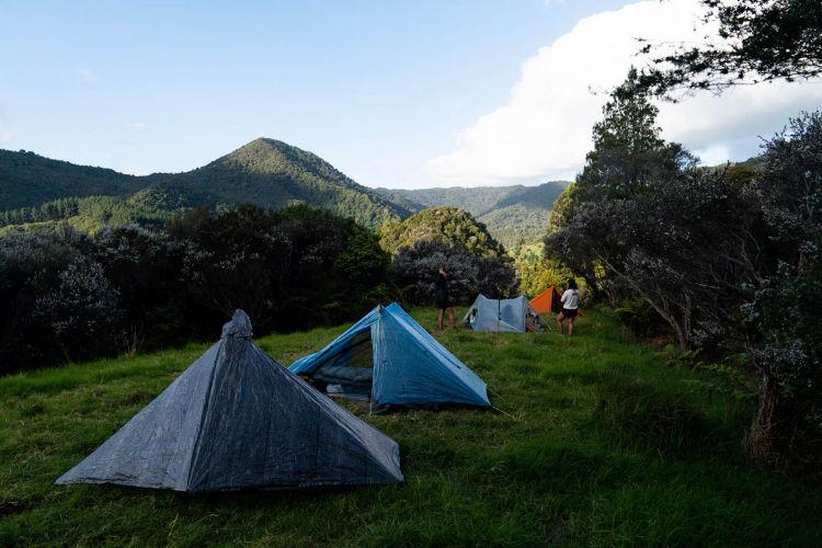 Acampamento durante a Te Araroa Trail