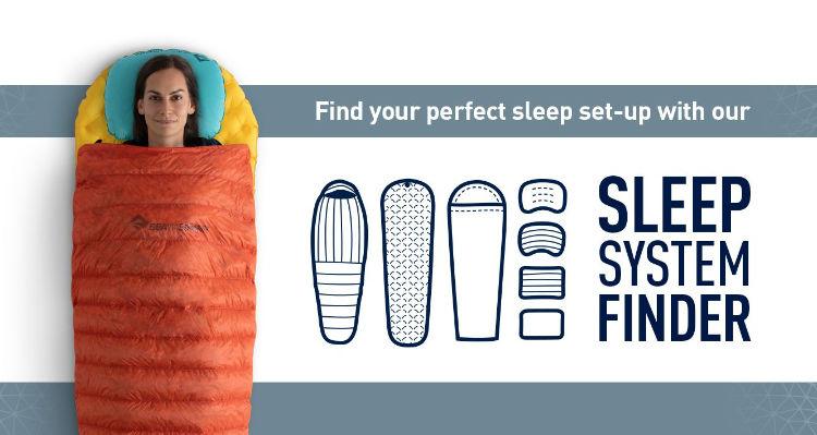 Sistema para você encontrar o saco de dormir ideal