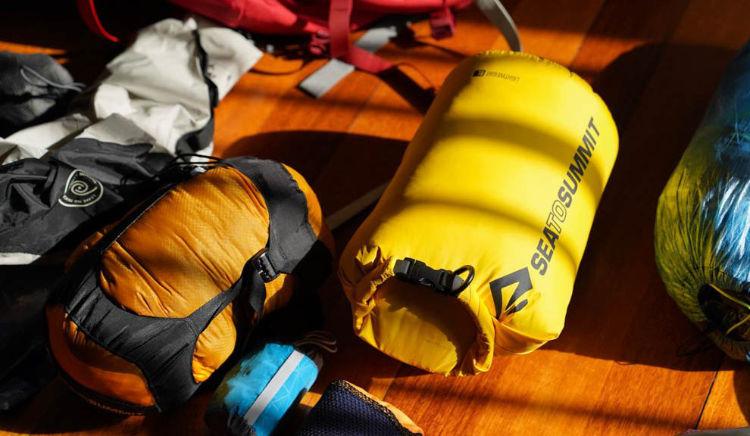Saco estanque leve ultra-sil no bikepacking