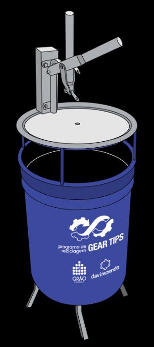Coletor para reciclagem de cartuchos de gás Gear Tips