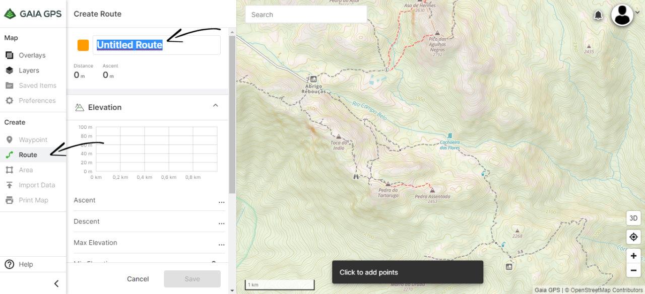 Criar Tracklog de GPS Online