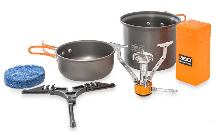 Kit Furno Stove and Pot Set 360° Degrees