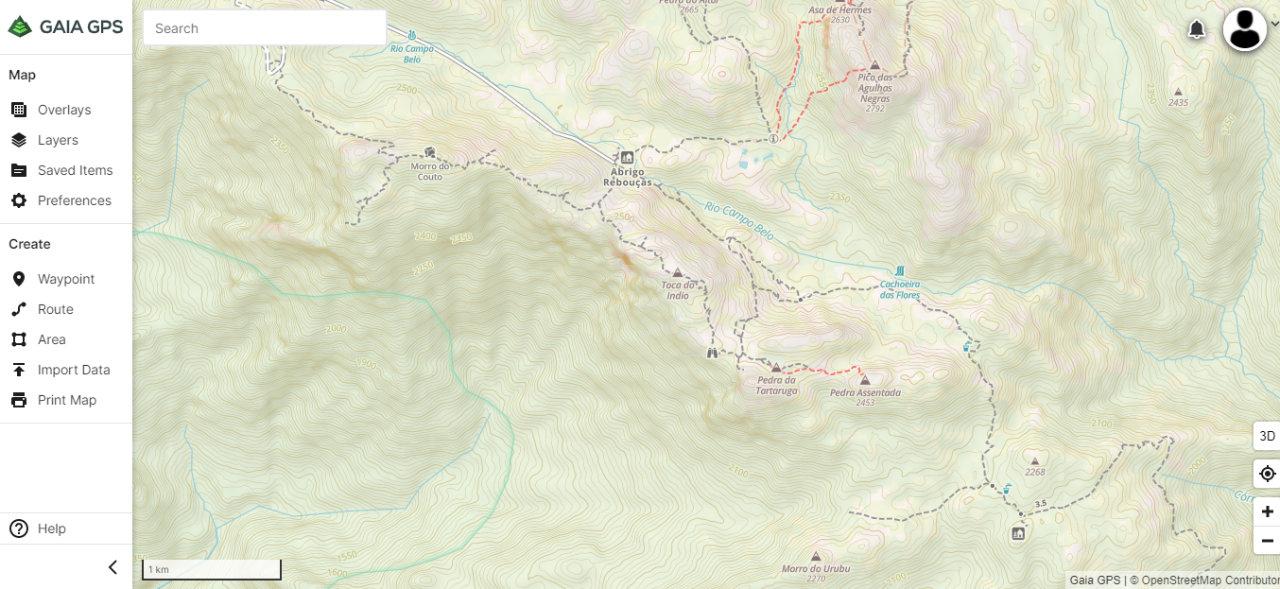 Criando um tracklog com o Gaia GPS